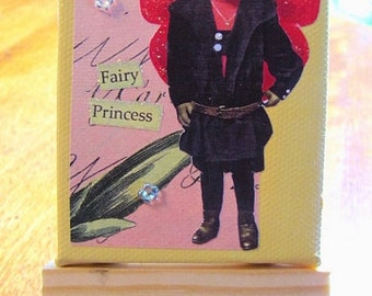 Miniature Mixed Media Canvas - Fairy Princess