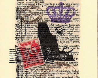 Collaged Postcard - Mixed Media Original