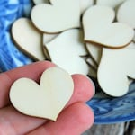 20 . 1 inch Wood Hearts . Rustic Wedding Favors . Valentines Table Decor . Bridal Shower Favors . Rustic Wedding Decor . DIY Valentines Day