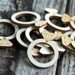 10 pcs . Wood Wedding Rings . Rustic Bridal Shower Decorations . Bridal Shower Favors . Bridal Shower Games . Rustic Wedding Decorations