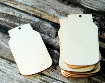 10 . Mason Jar Wood Tags . Mason Jar Wedding Favors . Mason Jar Wedding Tags . Farmhouse Wedding Favors . Mason Jar Bridal Shower Favors
