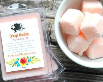 Orange Blossom Sugar Scrub Cubes . Solid Sugar Body Scrub . Best Friend Birthday Gift . Gift for Mom . Mother's Day Gift