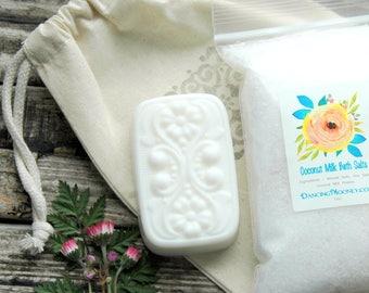 Coconut Milk Gift Set . Best Friend Birthday Gift . Spa Gift Set . Coconut Milk Bath Gift Bag . Gift for Mom . Gift for Women