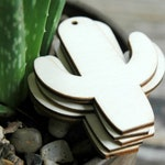 10 . Cactus Wood Tags . Cactus Wedding Favors . Wedding Favor Tags . Succulent Wedding Favors . Cactus Birthday Party . Cactus Party Favors