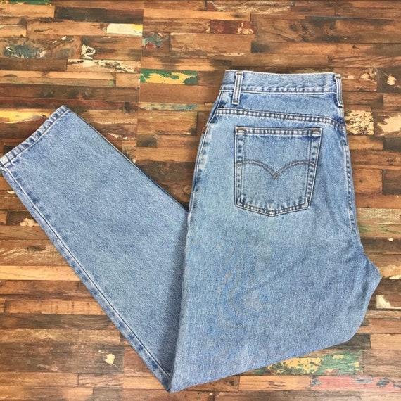 Vintage Levis high waist tapered leg 550 sz 18