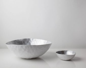 Large Silver Paper Bowl