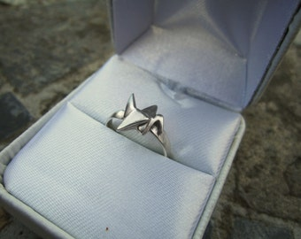 Sterling Silver Origami Crane Ring
