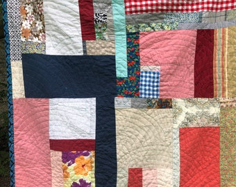 Ready to ship--hand stitched — hand quilted