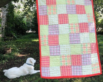 Ready to ship— hand quilted—seersucker quilt
