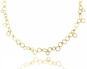 18k bubble necklace