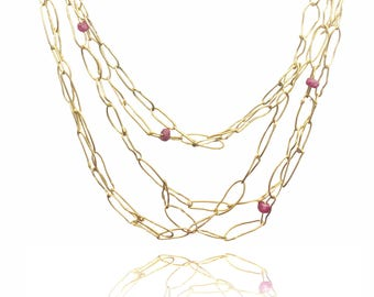 22k tangle necklace