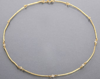 diamond twig necklace