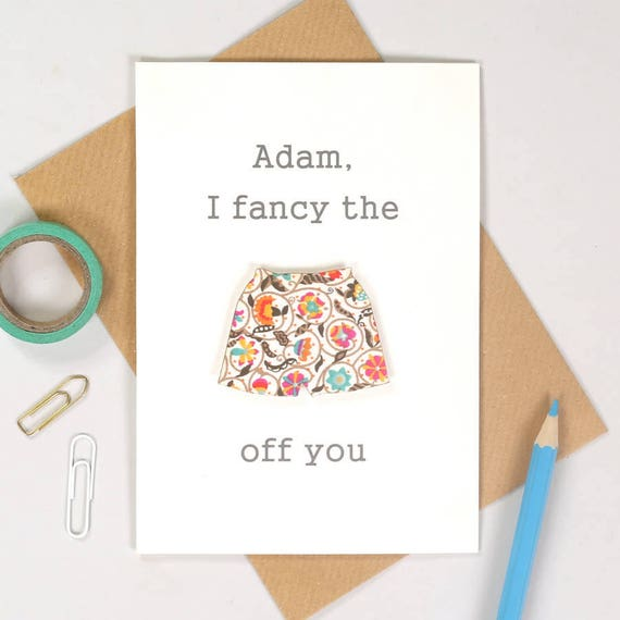 Valentine's I Fancy The Pants Off You boxer shorts Card - Funny card - card for him - Boyfriend card - card for husband - valentines card