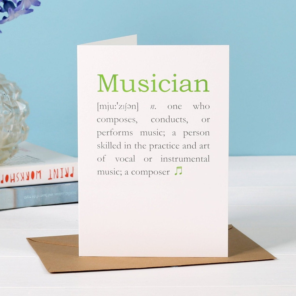 Musician Graduation Or Birthday Greetings Card
