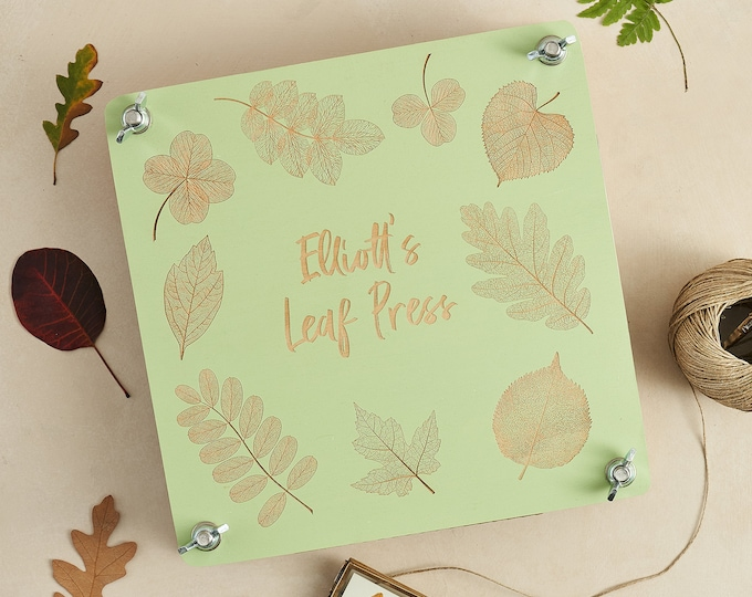 Flower press - Leaf press children's gift - kids birthday gift - personalised crafting gift - LARGE