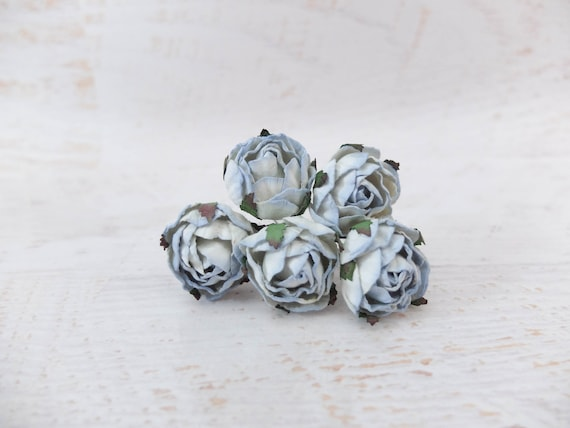 1.5 cm grey paper flowers 20 15mm grey paper double layers daisies round