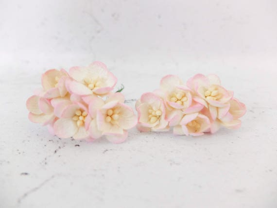 10 1 yellow pink paper cherry blossom paper flowers etsy image 0 mightylinksfo
