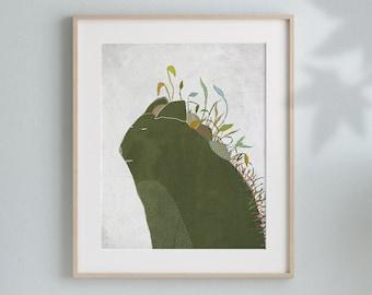 Art Print of an original illustration, Animal wall art, Kids Bedroom, Interior Home Decor by Aliette