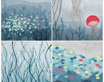 Marin Set of 4 prints