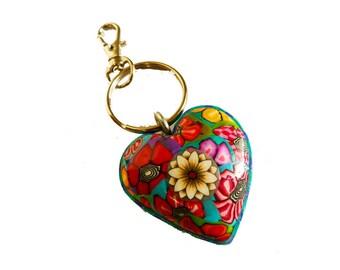 Heart key chain, Key chain, Keychain, Key ring, key holder, unique key chain, bag decorate, key chain for woman, Key Keychain, Keychains