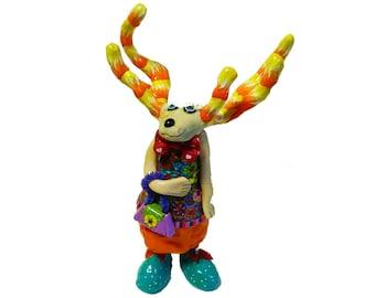 Deer sculpture, deer art, deer figure, Modern Deer sculpture, Christmas deer, Christmas gifts, Collectible deer, Deer statue, Deer figurine