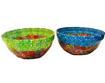 Multicolore Piccolo Ceramica Set di 4 Spode Ciotola per Cereali
