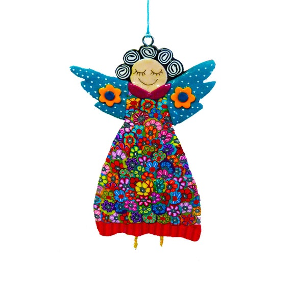 angel ornaments handmade angel decorations personalized etsy