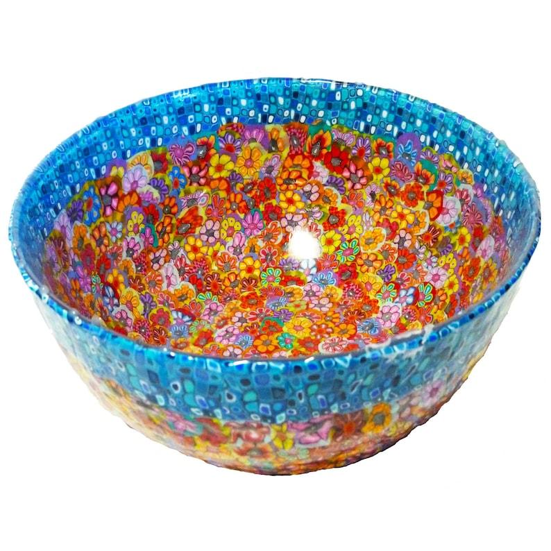 Grand bol de service, cadeau de jour de mère, bol de décoration, bol de centrpiece, bol fait main de salade