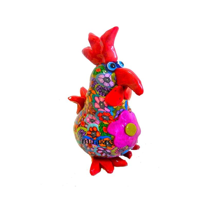 Chicken Sculpture Chicken Figure Chicken Decor Collectible image 1