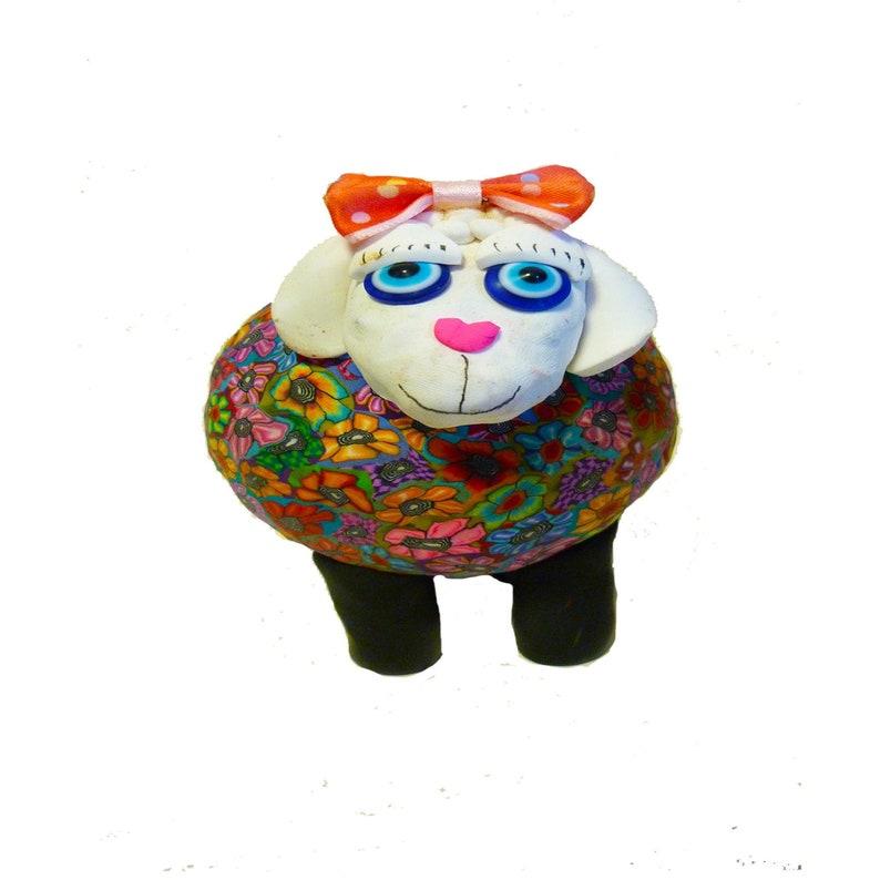 Pop Art Sheep Decor Colorful and Unique Sheep Figuirne