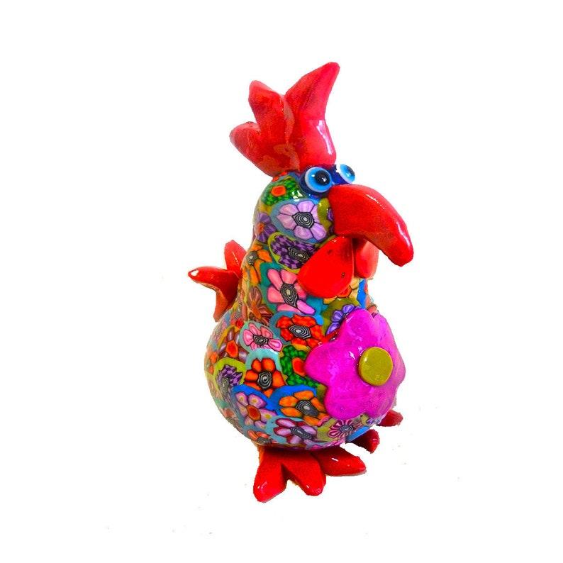 Chicken Sculpture Chicken Figure Chicken Decor Collectible image 0
