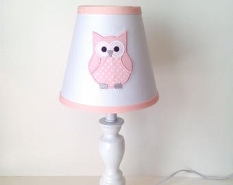 Owl Lamp Shade (colors are customizable, with or without monogram)