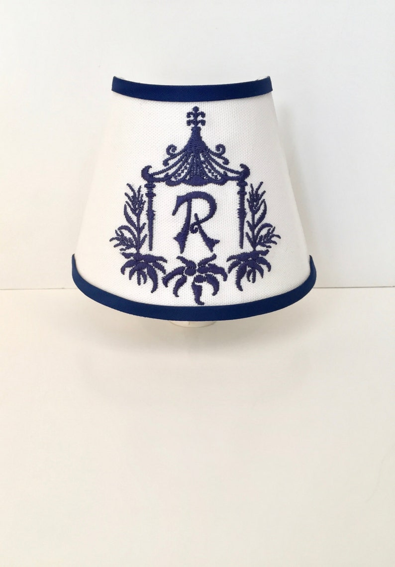 Pagoda Frame Monogrammed Chinoiserie Night Light other colors available