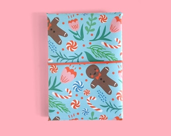 Christmas Pattern: Blue Wrapping Paper 1 Sheet