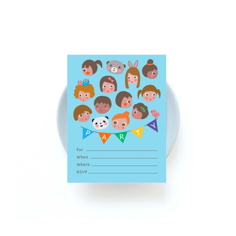 The More the Merrier Fill-in Party Invitation image 0