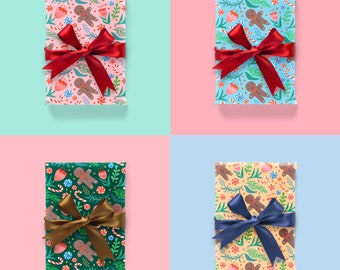 Christmas Wrapping Paper Choose 4