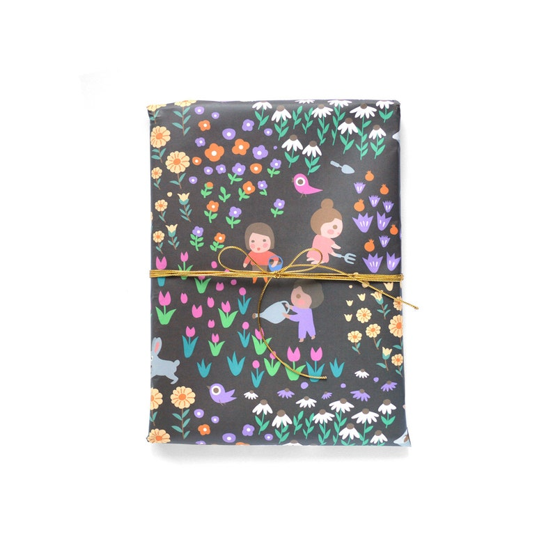 Little Gardeners Wrapping Paper 1 Sheet image 0