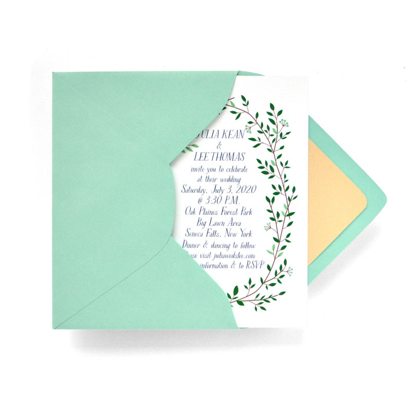 Long Bouquet Wedding Invitations  50 Invitations and image 0