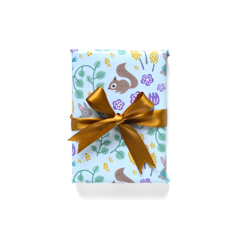 Forest Wrapping Paper 1 Sheet Blue