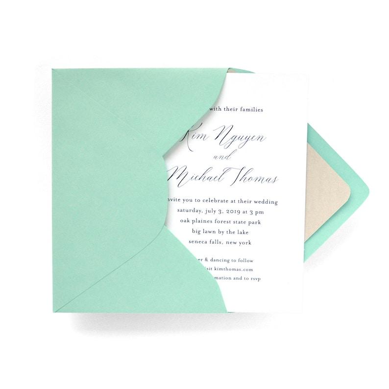 Elegant Text Wedding Invitations  Printed or Digital  image 0