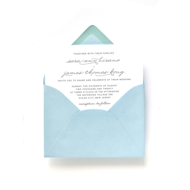 Beach Wedding Invitations  50 Wedding Cards  Recycled Paper image 0