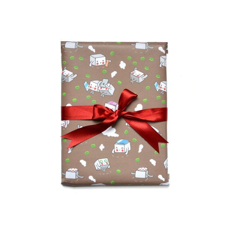 Miso Soup with Tofu Wrapping Paper 1 Sheet image 0