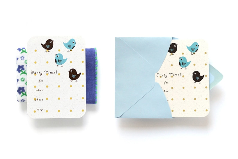 Party Birds Fill-in Party Invitation  Children's Birthday image 0