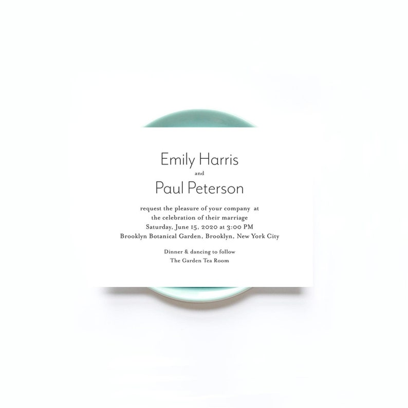 Modern Text Wedding Invitations  50 Wedding Cards  Recycled image 0