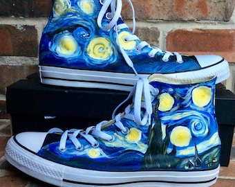 05a10295001574 Custom Painted Shoes Glasses Overalls and Home by DreaminBohemian