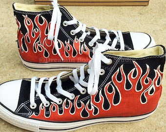 Painted Flame Converse Shoes 35772b53b