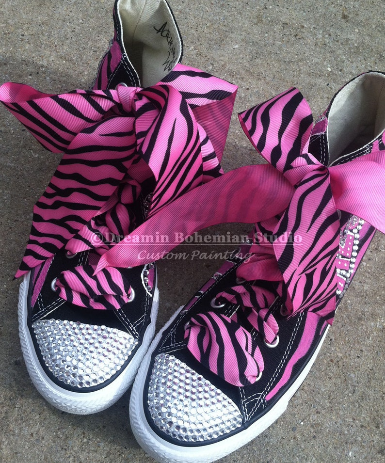 Converse Shoes Crystallized Shoes Hand Painted Personalized  1a2daad81