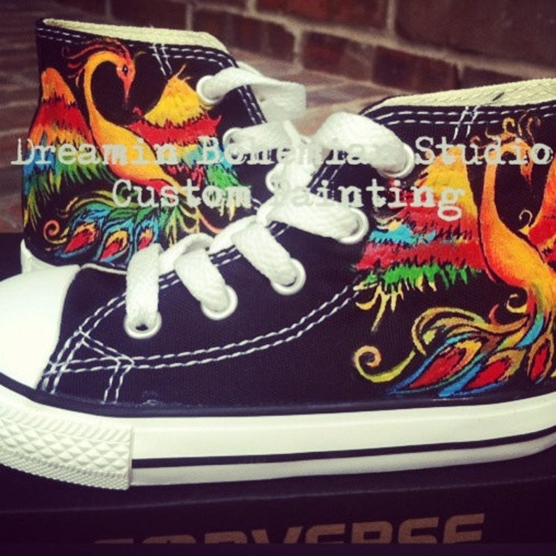 Phoenix Converse for Kids with Hand painted Rainbow Aesthetic  3fce66868