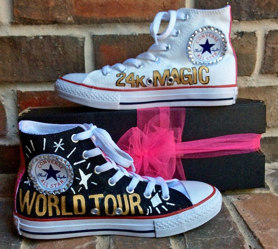 Kids Custom Converse YOU CHOOSE Musician Concert Fan Wear Hand Painted Hi Top Shoes, Chuck Taylors for Music Festival in Youth Sizes, Girls