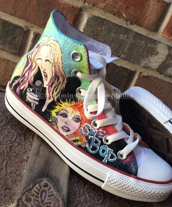 Custom Painted Shoes, HandPainted Converse Hi Tops, Music Bands, Any Musician on Chucks, Gift for Concert Goer, Girlfriend, Boyfriend, Women